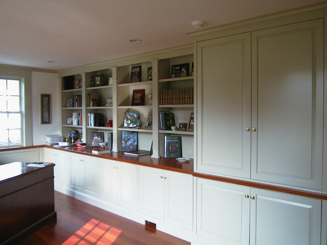 White Full Wall Cabinets