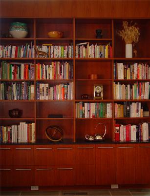Book Filled Shelves