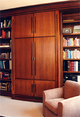 Books On Side Of Cabinets